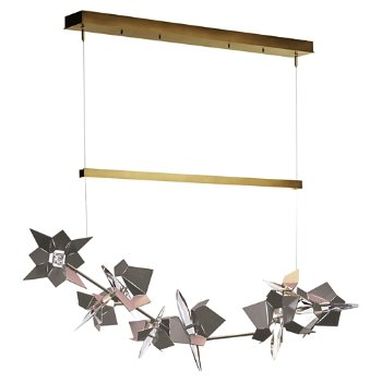 Shown in Gold Finish, Burnished Steel Floret Finish