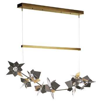 Shown in Gold Finish, Natural Iron Floret Finish
