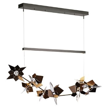 Shown in Natural Iron Finish, Bronze Floret Finish