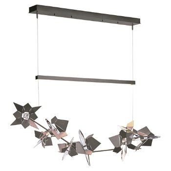 Shown in Natural Iron Finish, Burnished Steel Floret Finish