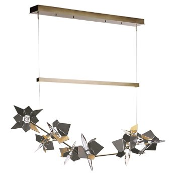 Shown in Soft Gold Finish, Natural Iron Floret Finish