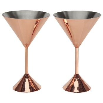 Plum Martini Glass Set of 2