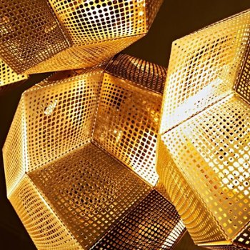 Etch Trio Round Multi-Light Pendant , Detail view