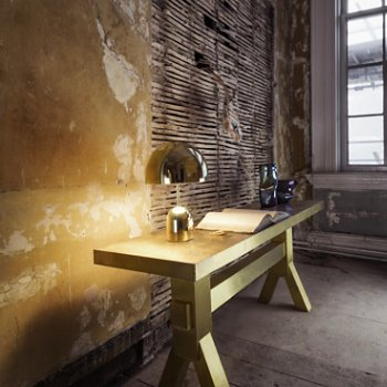 Shown lit in Brass finish