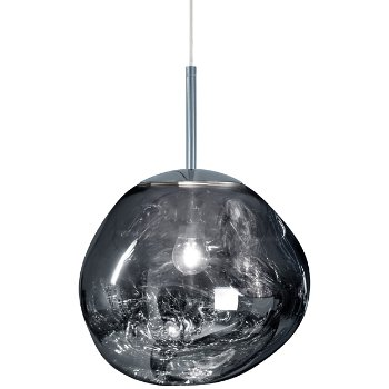 Shown lit in Chrome finish, Small size