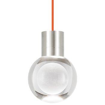 Shown in Satin Nickel  finish, Orange Cord