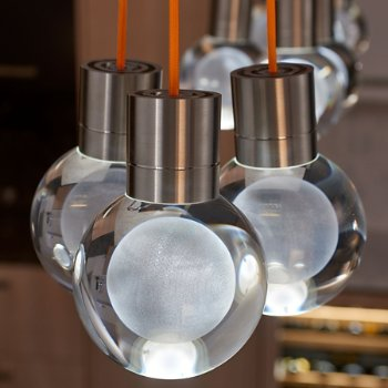 Shown in Satin Nickel  finish, Orange Cord, in use