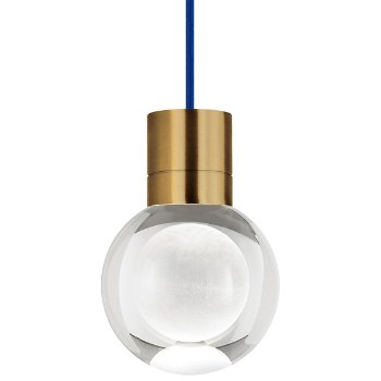 Shown in Aged Brass  finish, Blue Cord