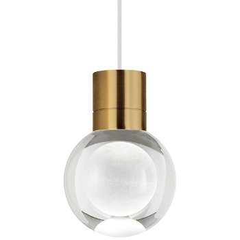 Shown in Aged Brass  finish, White Cord