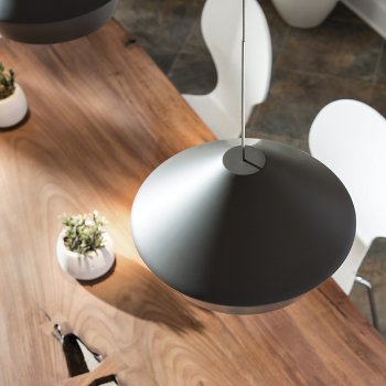 Shown in Charcoal Gray color, Black finish