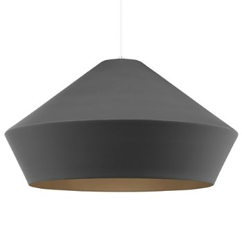 Shown in Charcoal Gray color, White finish