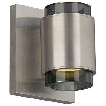 Shown in Satin Nickel finish, Smoke Glass