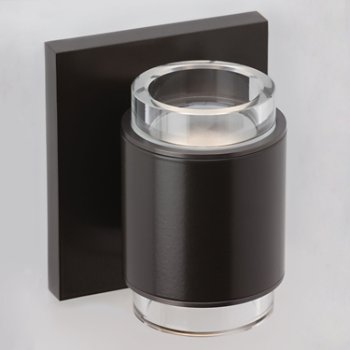 Shown in Antique Bronze finish, Clear Glass