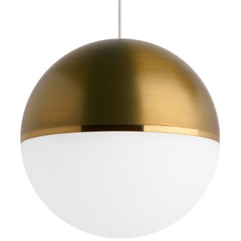 Shown in Aged Brass/Bright Brass shade with Satin Nickel finish