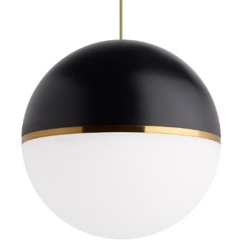 Shown in Matte Black/Aged Brass shade with Aged Brass finish
