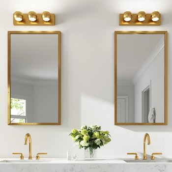 Shown in Aged Brass finish, 3 Light
