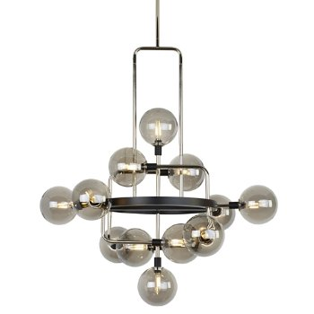Shown in Smoke shade with Polished Nickel finish