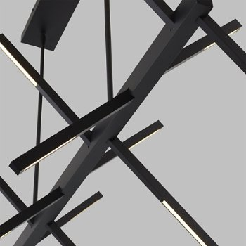 Shown in Matte Black finish, Detail view