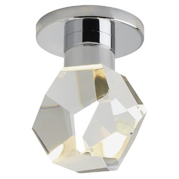 Shown in Chrome finish, Faceted Crystal