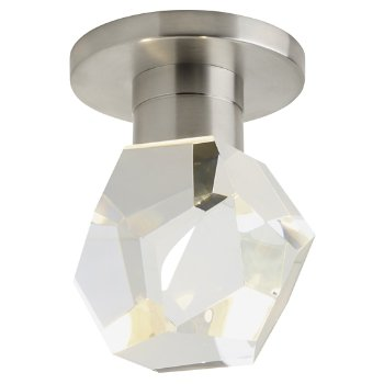 Shown in Satin Nickel finish, Faceted Crystal