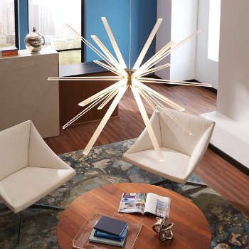 Photon Chandelier Light, in use