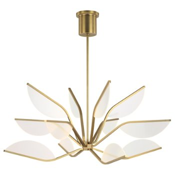 Shown in Aged Brass finish, Medium size