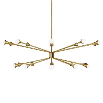 Shown in Aged Brass finish, 18 Light Option