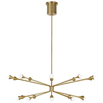 Shown in Aged Brass finish, 20 Light Option