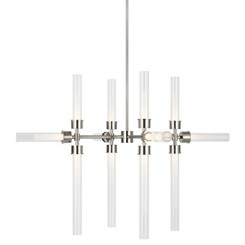 Shown in Polished Nickel finish, 12 Light Option, lit