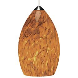 Firefrit Pendant(Tahoe Pine Amber/Chrome/754/LED) - OPEN BOX