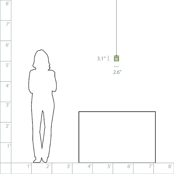 Cube Pendant (Frost/Bronze/759) - OPEN BOX RETURN