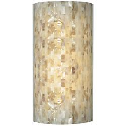 Playa Flush Wall Sconce(Natural/Satin Nickel) - OPEN BOX
