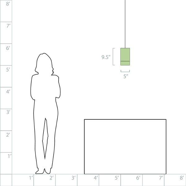 Topo Pendant (White w/ Maple/Satin Nickel) - OPEN BOX RETURN