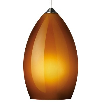 Shown in Amber shade with Satin Nickel finish