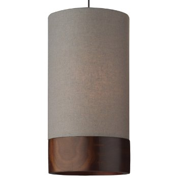 Shown in Heather Gray with Walnut shade, Antique Bronze finish