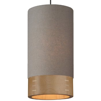 Shown in Heather Gray with Maple shade, Antique Bronze finish