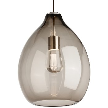 Shown in Smoke with LED bulb