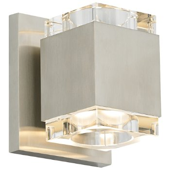Shown in Satin Nickel finish, Clear shade