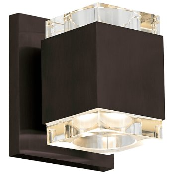 Shown in Clear shade, Antique Bronze finish