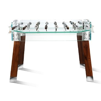 Shown in Walnut Legs, Transparent Playing Field color