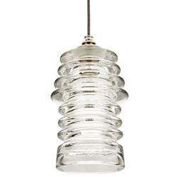 Watt Ribbed Glass Mini Pendant