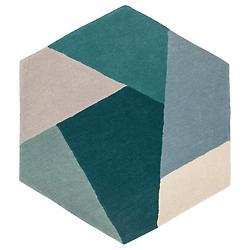Hexa Hexagonal Area Rug, Set of 2