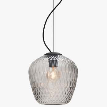 Shown in Silver lustre finish with Medium size, lit