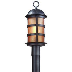 Aspen Outdoor Post-Mount Lantern (Bronze/Amber) - OPEN BOX