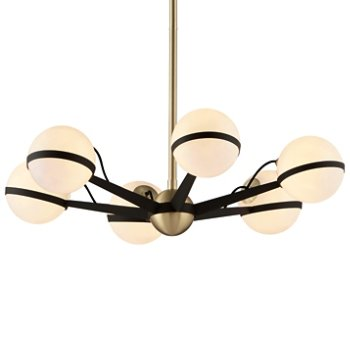 Shown in Textured Bronze / Brushed Brass finish, 6 Light