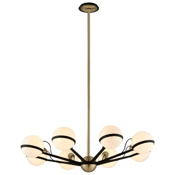 Shown in Textured Bronze / Brushed Brass finish, 8 Light