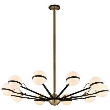 Shown in Textured Bronze / Brushed Brass finish, 10 Light