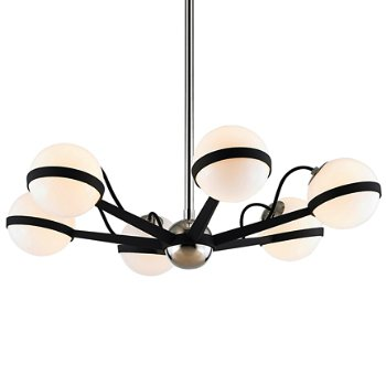 Shown in Carbide Black / Polished Nickel finish, 6 Light