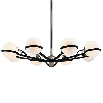 Shown in Carbide Black / Polished Nickel finish, 8 Light