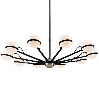 Shown in Carbide Black / Polished Nickel finish, 10 Light